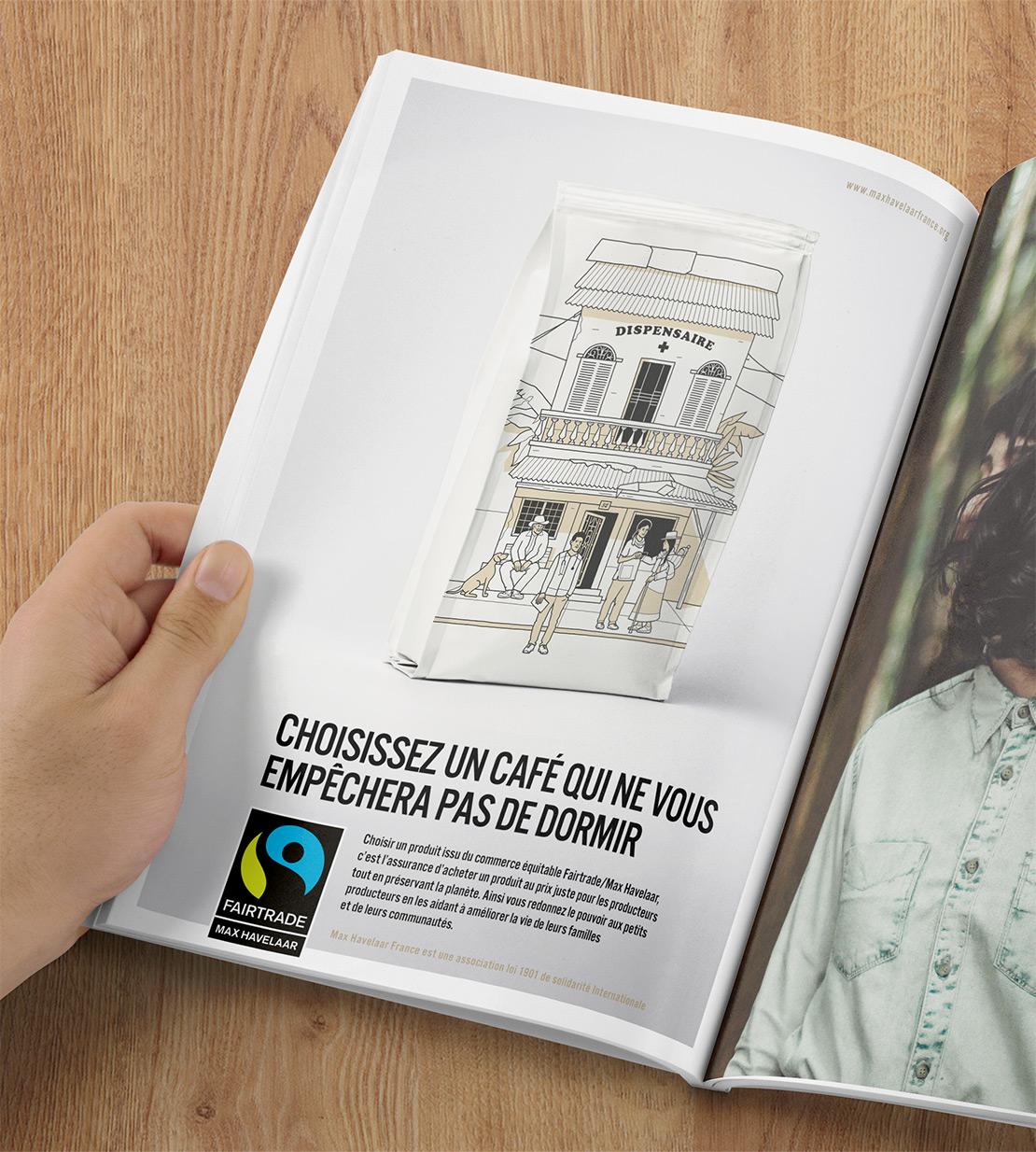 Fairtrade Max Havelaar café publicité presse Notchup