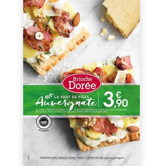 Brioche Dorée PLV Pizza Auvergnate Notchup
