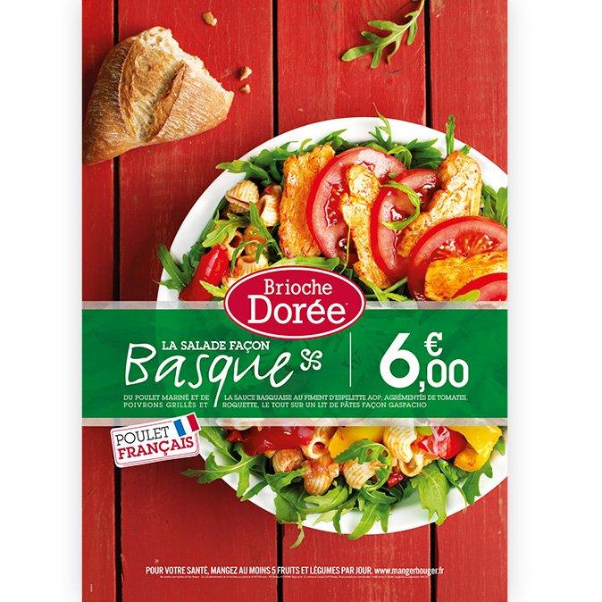 Brioche Dorée PLV salade basque Notchup
