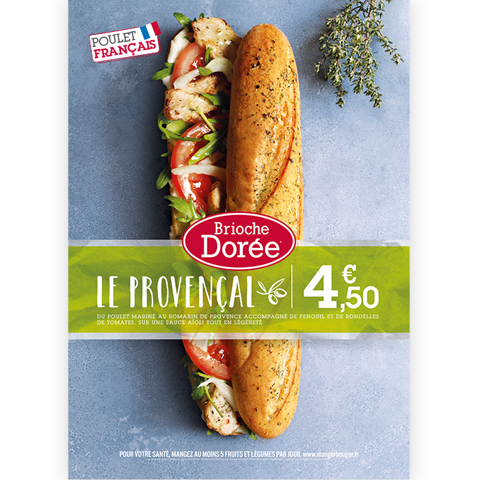 Brioche Dorée PLV sandwich provençal Notchup