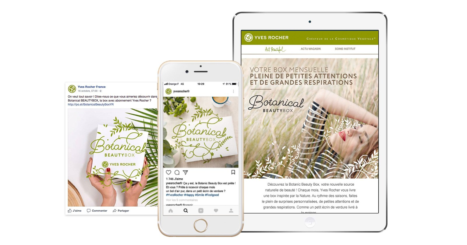 Opération site et facebook Botanical Yves Rocher Notchup