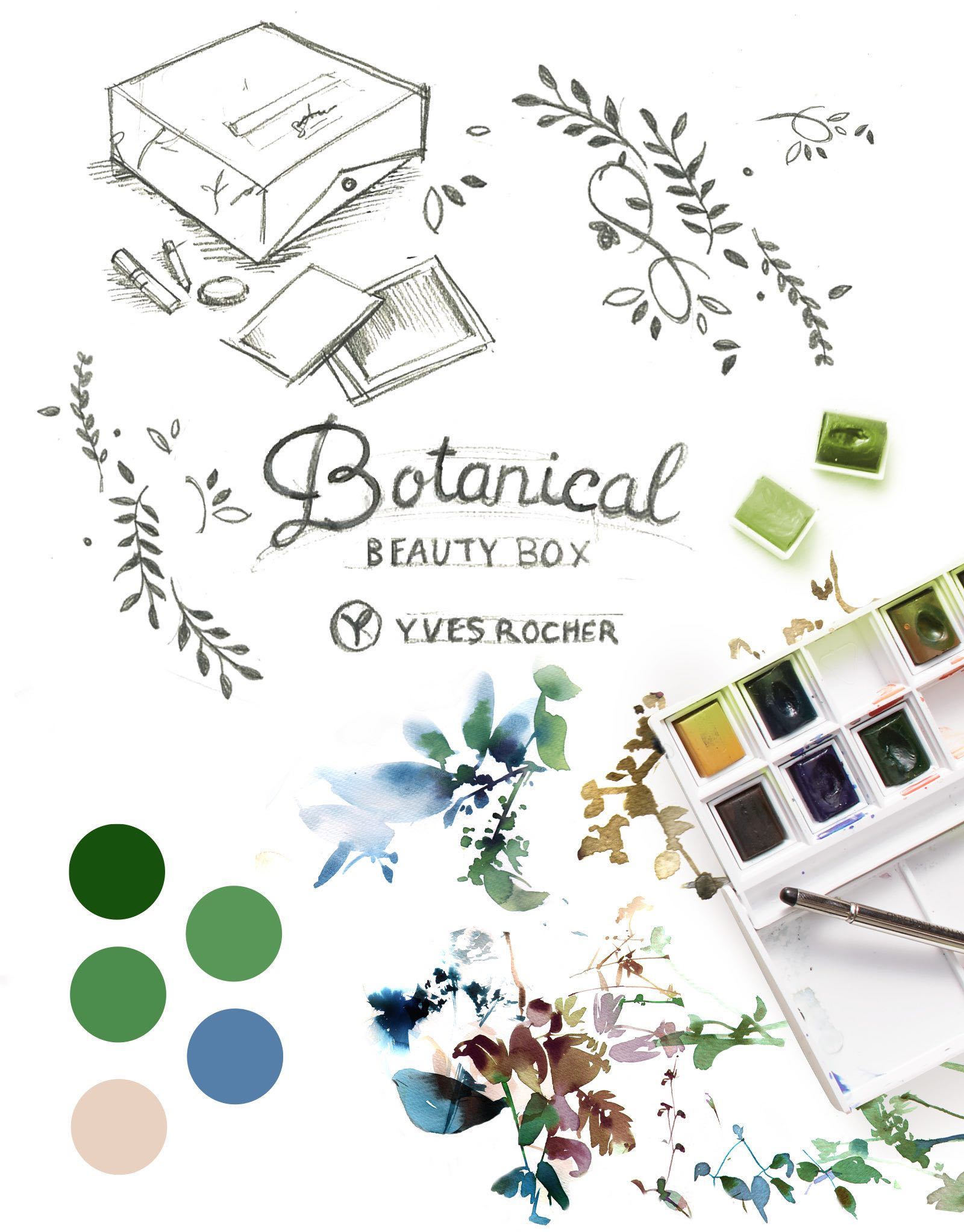 Charte graphique Botanical Yves Rocher Notchup