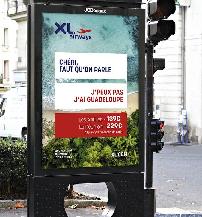 XL Airways Notchup affichage urbain print bonnes excuses compagnie aérienne