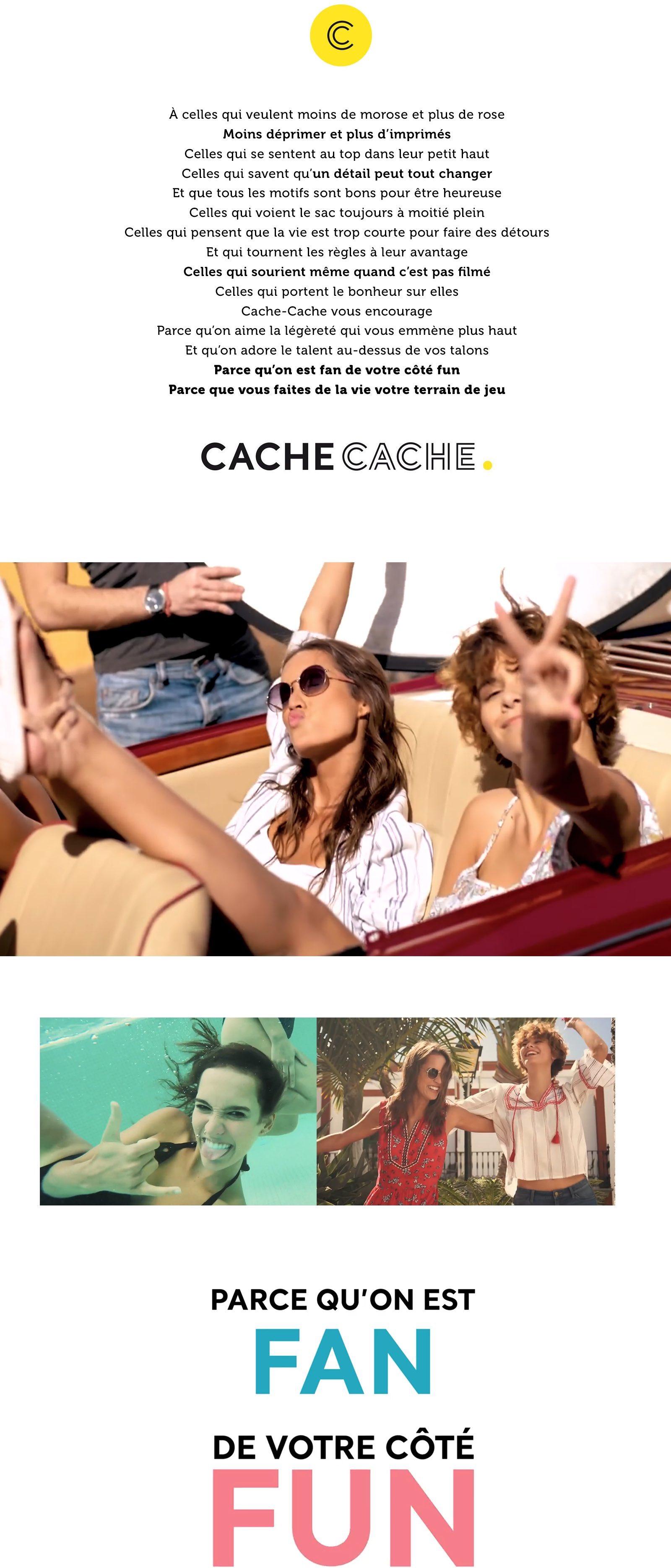 Notchup Cache Cache plateforme de marque territoire d'expression shopper smile mode manifeste marqye fan de votre coté fun