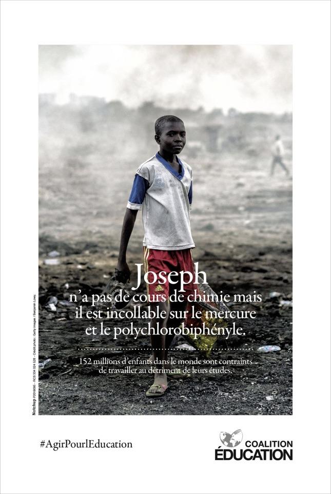 Coalition Education Notchup campagne sensibilisation accès droit éducation enfant Afrique G7 Affiche Getty images / Benjamin Lowy