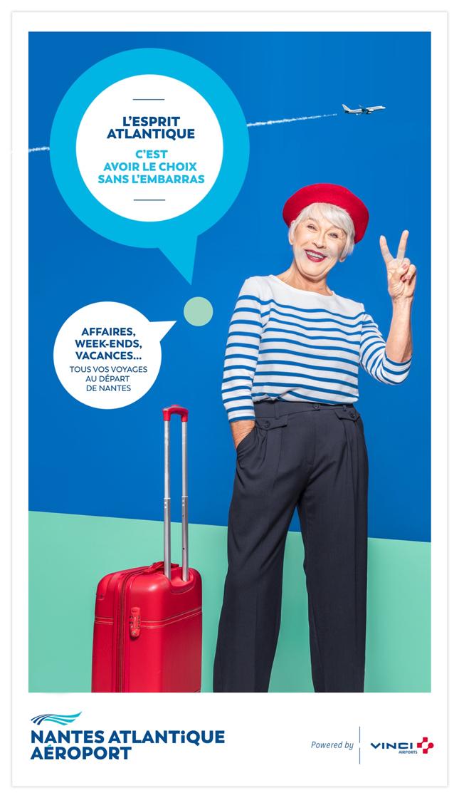 Aéroport Nantes Atlantique Vinci Airports agence publicité communication territoire com Notchup réseaux sociaux