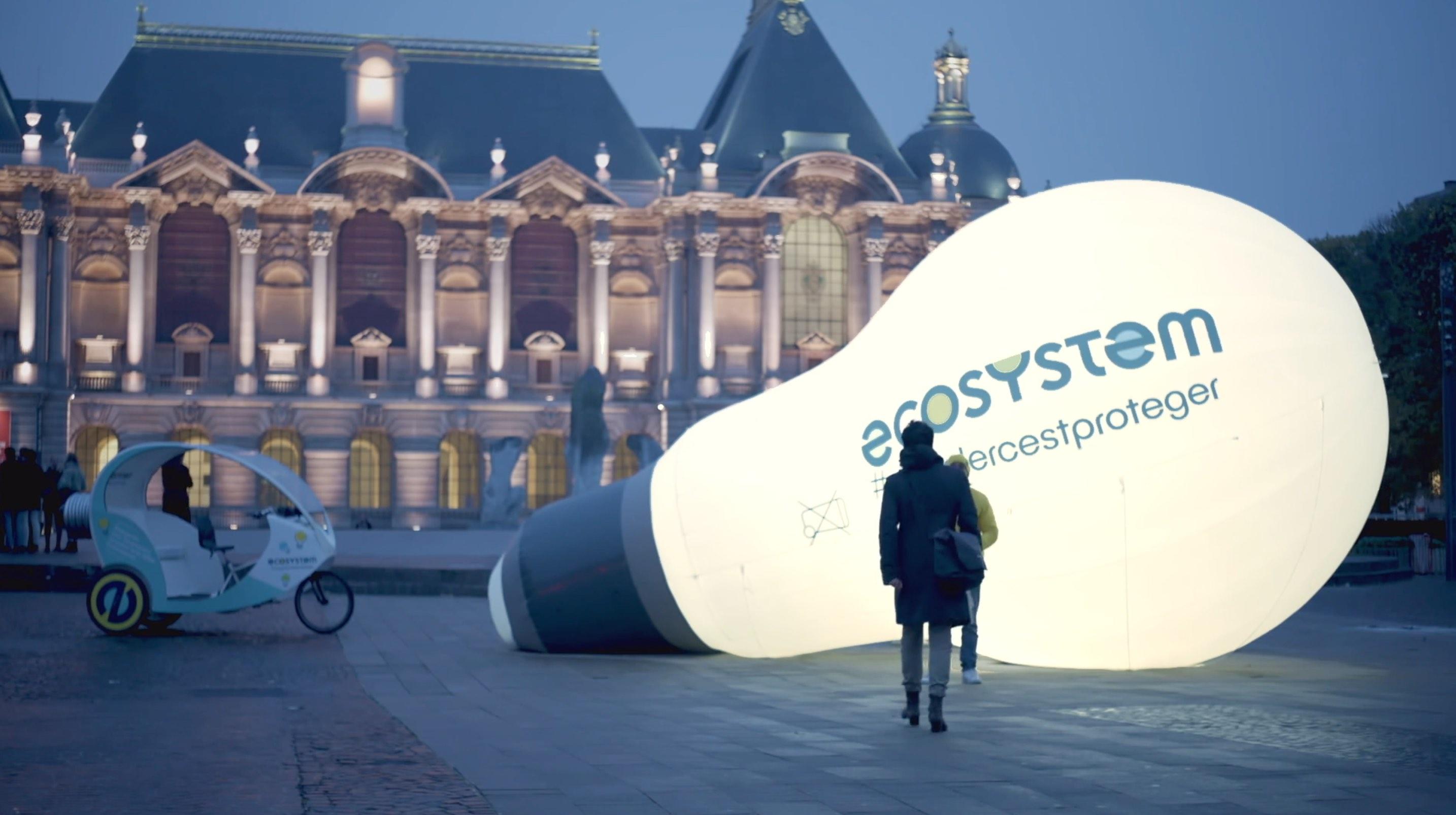 Notchup Ecosystem campagne globale nationale activation sensibilisation ampoules géantes #recyclercestproteger