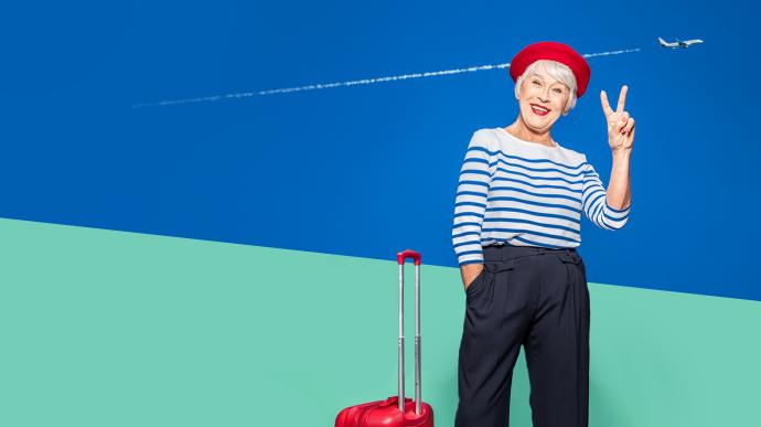 Aéroport Nantes Atlantique Vinci Airports agence publicité communication territoire com Notchup réseaux sociaux voyageuse cool détendue branchée valise rouge voiture parking pratique